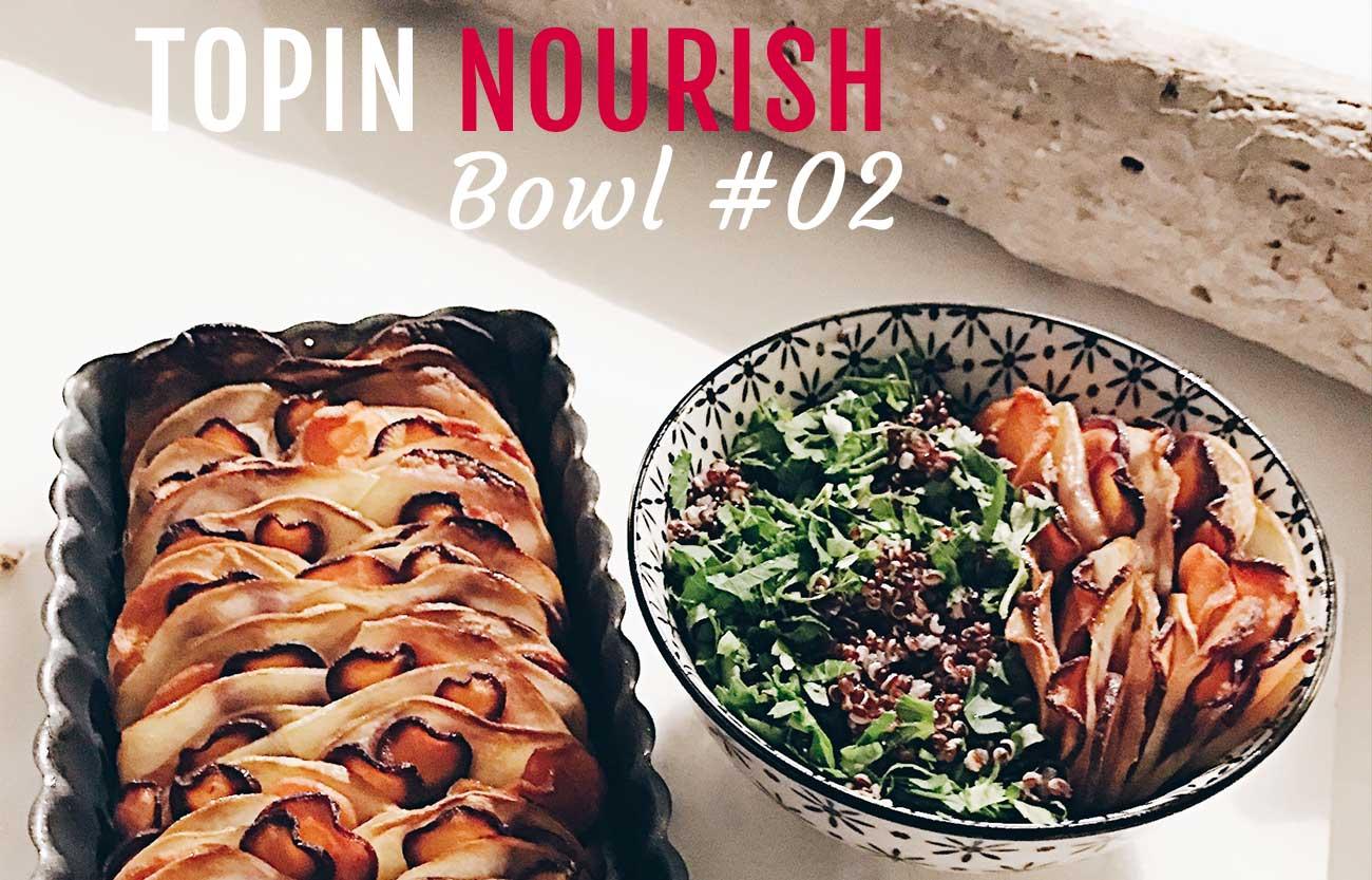 Tian de légumes racines et quinoa